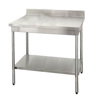 TABLE INOX 1000X700MM FIXE DOSSERET+ETAGER (1)